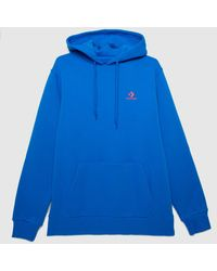 Converse Embroidered Fleece Hoodie - Blue