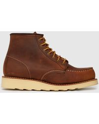 Red Wing 6-inch Classic Moc Boots - Brown