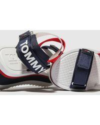 Tommy Hilfiger White & Navy Tj Sporty Neoprene Flatform Sandals - Multicolour