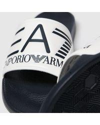 EA7 White & Navy Sea World Visibility Sandals - Black
