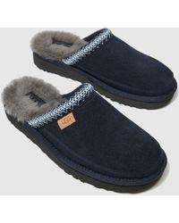 UGG Men's Tasman Fur-lined Suede Slippers - Blue