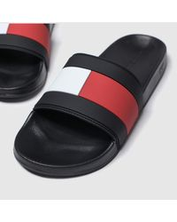 Tommy Hilfiger Essential Flag Pool Slide Sandals - Black