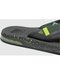 Reef Grey & Lime Fanning Low Sandals