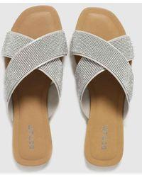 Schuh Tali Embellished Sandals - Metallic