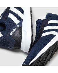 adidas Navy & White Swift Run Rf Trainers - Blue
