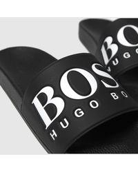BOSS by HUGO BOSS Solar Slide Logo Sandals - Black