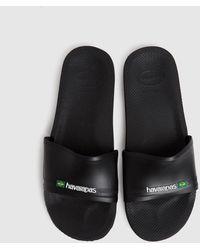 Havaianas Slide Brasil Sandals - Black