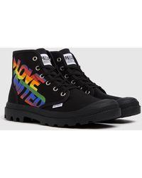 Palladium Pampa Hi Pride Trainers - Black