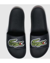 Lacoste Croco Slides - Black