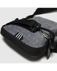 adidas Accessories Grey & Black Mel Festival Bag Trefoil