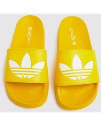 adidas Adilette Lite Sandals - Yellow