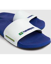 Havaianas Slide Brasil Sandals - Blue