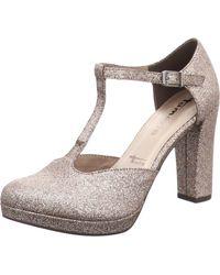 Tamaris Sandalette mit Glitter-Effekt - Mettallic