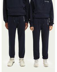 Scotch & Soda Jogging unisexe en coton bio - Bleu