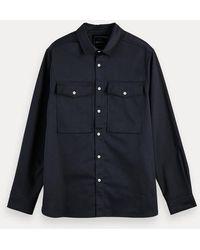 Scotch & Soda Overhemd Met Lange Mouwen Van Een Katoenmix - Zwart