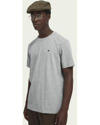 Scotch & Soda Basic T-shirt - Grijs