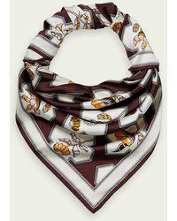 Scotch & Soda Sjaal Met Print - Meerkleurig