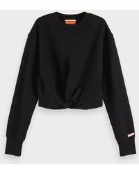 Scotch & Soda Sweater Met Geknoopt Detail - Zwart