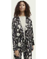 Scotch & Soda Pyjamablazer Met Print - Zwart