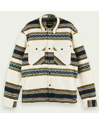 Scotch & Soda Shirtjack Van Een Wolmix Met Patroon - Meerkleurig