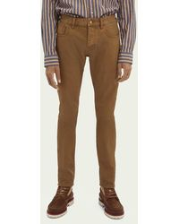 Scotch & Soda Ralston Garment-dyed Mid Rise Jeans - Bruin