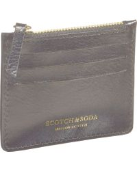 Scotch & Soda Leather Card Holder - Black