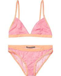 Scotch & Soda Lace Bra & Panty Set - Pink