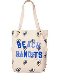 Scotch & Soda Artwork Beach Bag - Blue