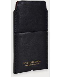 Scotch & Soda Leren Iphone-hoesje - Zwart
