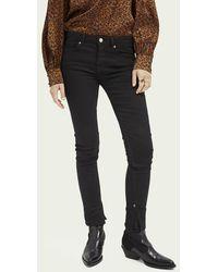 Scotch & Soda La Bohemienne Plus Mid Rise Skinny Jeans – Cast A Spell - Zwart
