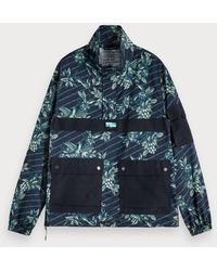 Scotch & Soda - Anorak Met Toile De Jouy - Lyst