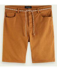 Scotch & Soda Garment-dyed 5-pocket Twill Short - Oranje