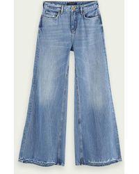 Scotch & Soda Extra Wide Leg Jeans – Blue Butter - Blau
