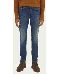 Scotch & Soda Ralston Jeans Van Een Katoenmix — Green Sky - Blauw