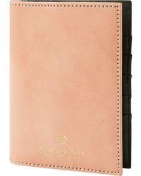 Scotch & Soda Leather Passport Holder - Natural