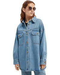 Scotch & Soda Oversized Denim Shirt Jacket - Blue