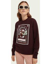 Scotch & Soda Sweater Met Print - Rood