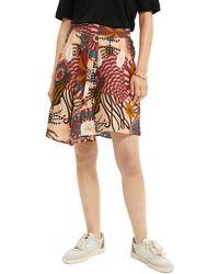Scotch & Soda Printed Jacquard Skirt - Multicolour