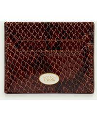 Scotch & Soda Unisex Leather Cardholder - Multicolor