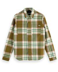 Scotch & Soda Mid-weight Flannel Shirt - Green