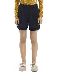Scotch & Soda Longer Length Tailored Shorts - Blue