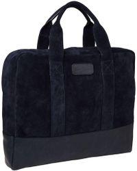 Scotch & Soda | Suede & Leather Laptop Bag | Lyst