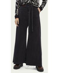 Scotch & Soda High-rise Jeans Met Extra Wijde Pijpen – Black Butter - Zwart