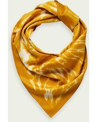 Scotch & Soda Tie-dye Sjaal Met Print - Geel