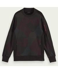 Scotch & Soda Katoenen Sweater Met Zak - Zwart