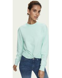 Scotch & Soda - Crew Neck Cotton-blend Knotted Sweatshirt - Lyst