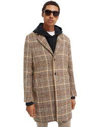 Scotch & Soda Single-breasted Wool-blend Overcoat - Multicolour
