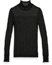 Scotch & Soda Sheer Long Sleeve Layering Knit - Black