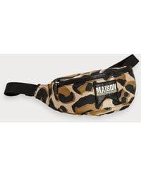 Scotch & Soda Animal Print Belt Bag - Black