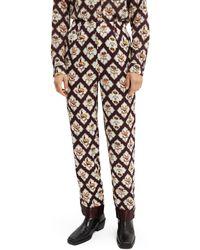 Scotch & Soda Printed straight-legged Trousers - Multicolour